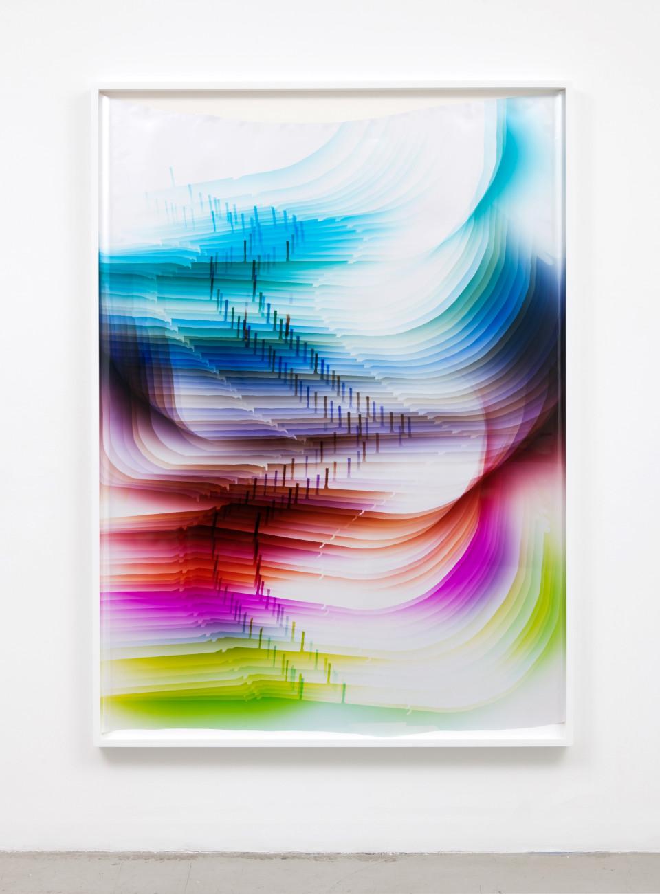 Image: Mariah Robertson  219, 2017  unique chromogenic print  68 x 49 inches (172.7 x 124.5 cm)