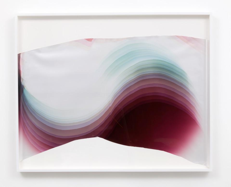 Image: Mariah Robertson  304, 2017  unique chromogenic print  40 x 49 inches (101.6 x 124.5 cm)