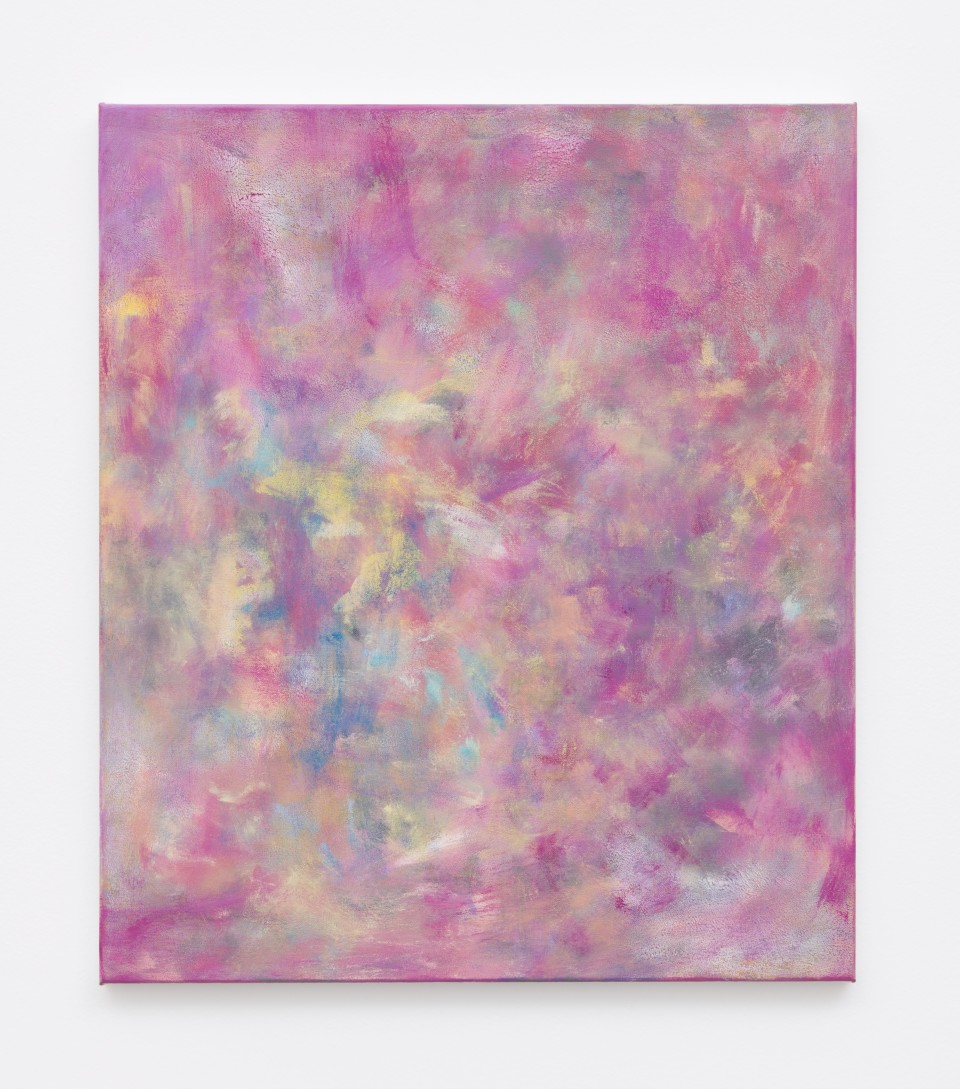 Image: Jean-Baptiste Bernadet  Untitled (Rosée), 2018  signed, titled and dated  oil on canvas  22 1/8 x 18 7/8 inches (56 x 48 cm)