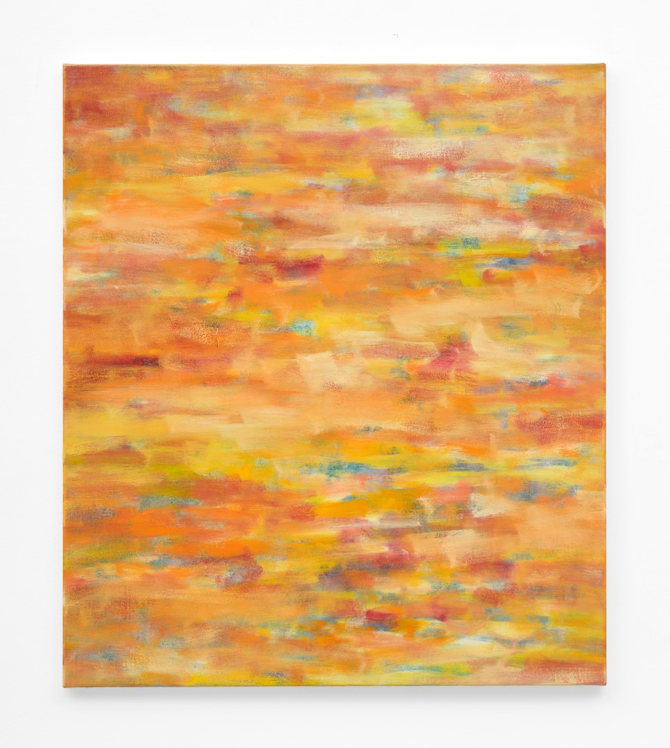 Image: Jean-Baptiste Bernadet  Untitled (The Long Run- Sunset), 2018  signed, titled and dated  oil on canvas  31 1/2 x 27 1/2 inches (80 x 70 cm)