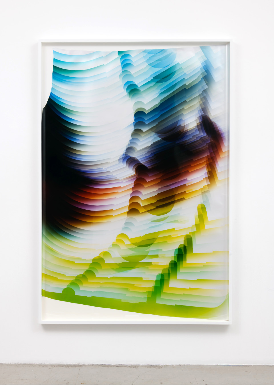 Image: Mariah Robertson  227, 2017  unique chromogenic print  72 x 49 inches (182.9 x 124.5 cm)