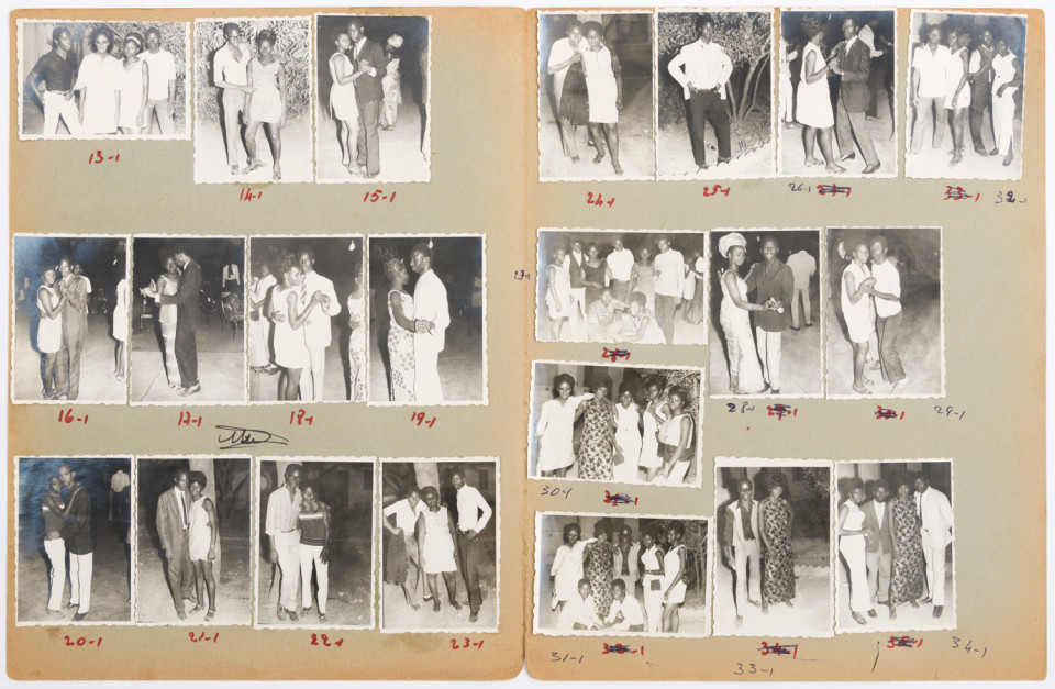 Image: Malick Sidibé  Cours Bouyaguy 16-2-70, 1970  numerical notations under each print and initialed recto; titled, dated and initialed verso  collection of 22 vintage gelatin silver prints mounted on paper  12-3/4 x 19-1/2 inches