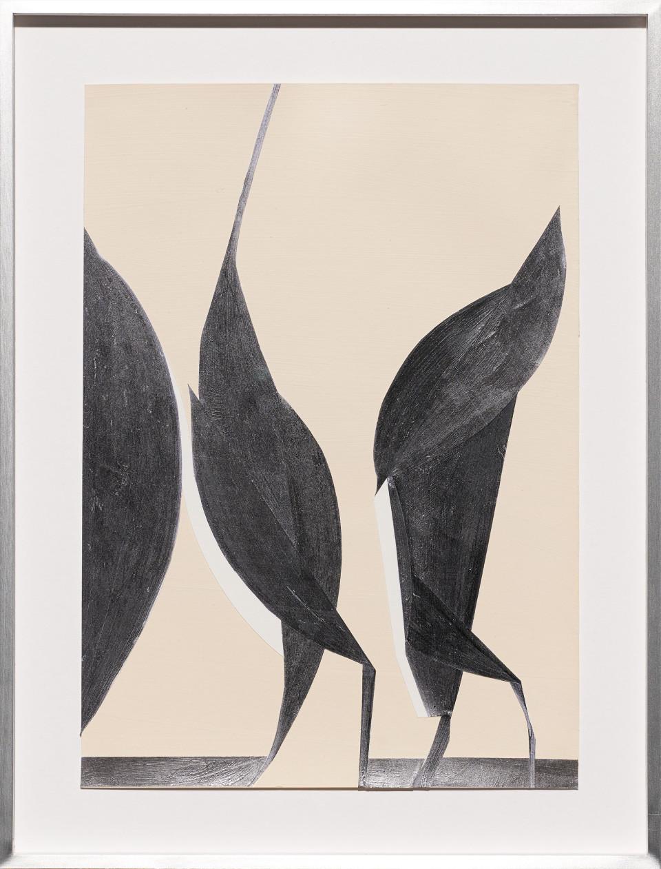 Frauke Dannert  Zaunkönig, 2018  Paper Collage  29 x 21 cm 11 3/8 x 8 1/4 in