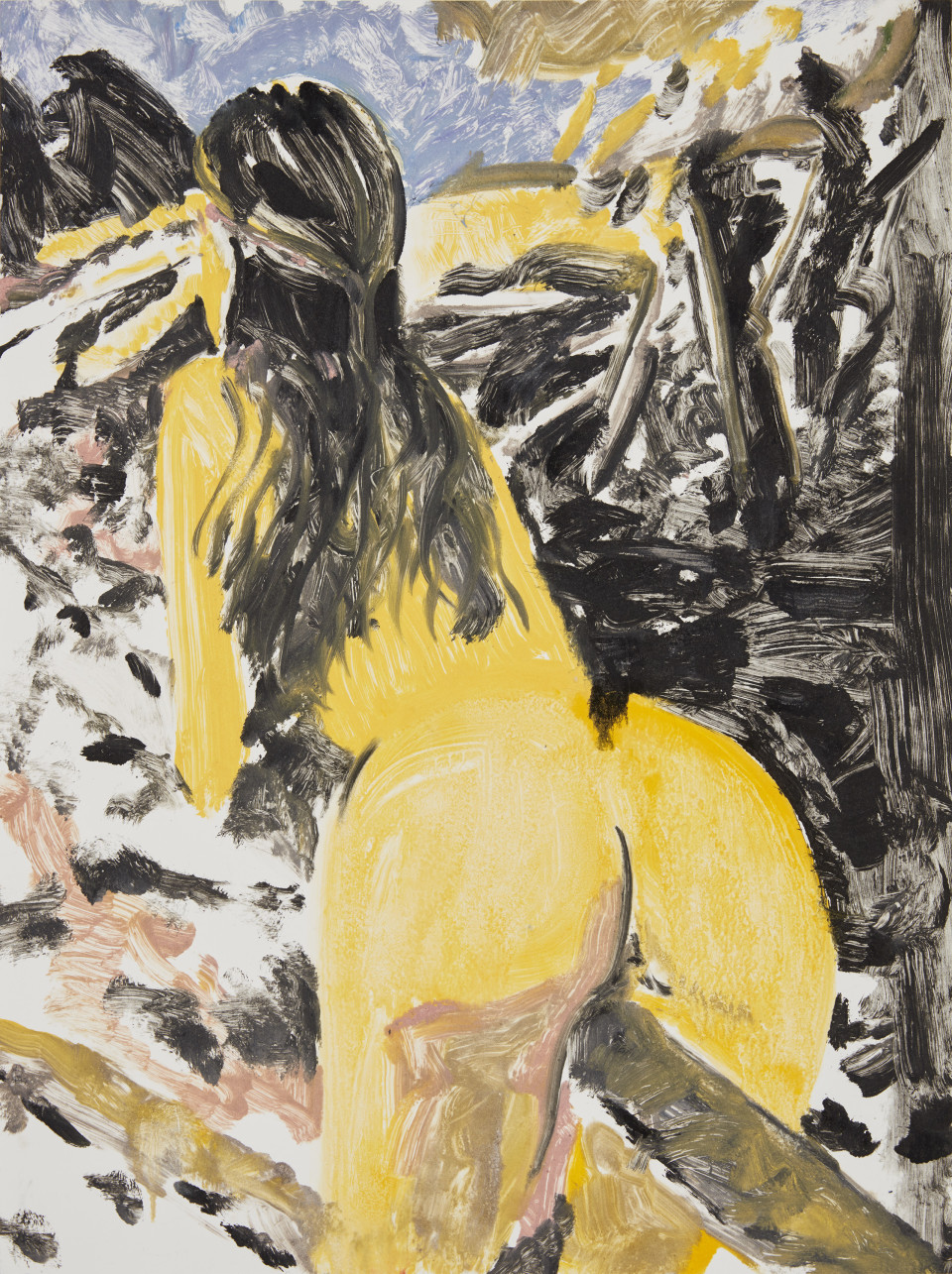 Nicole Wittenberg Back to Nature (Study 2), 2015 Monotype on Paper 60.3 x 45.1 cm 23 3/4 x 17 3/4 in