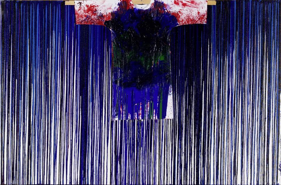 Hermann Nitsch Schüttbild mit Malhemd, 2011 Acrylic on canvas 200 x 300 cm 78 3/4 x 118 1/8 in