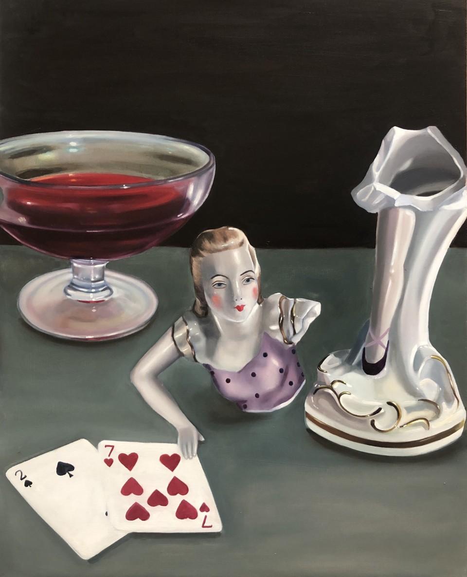 Tali Lennox Broken Ballerina, 2020 Oil on canvas 51 x 41 cm 20 1/8 x 16 1/8 in