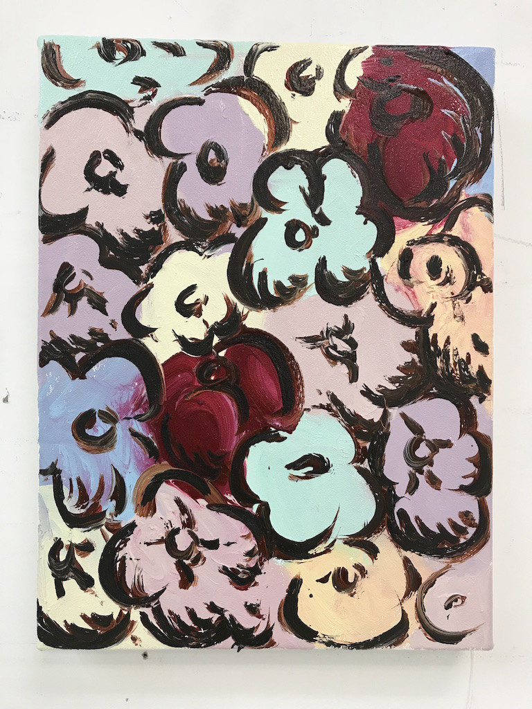 Delphine Hennelly Poo-Poo-Pi-Do, 2018 Oil on Canvas 30.5 x 22.9 cm 12 x 9 in
