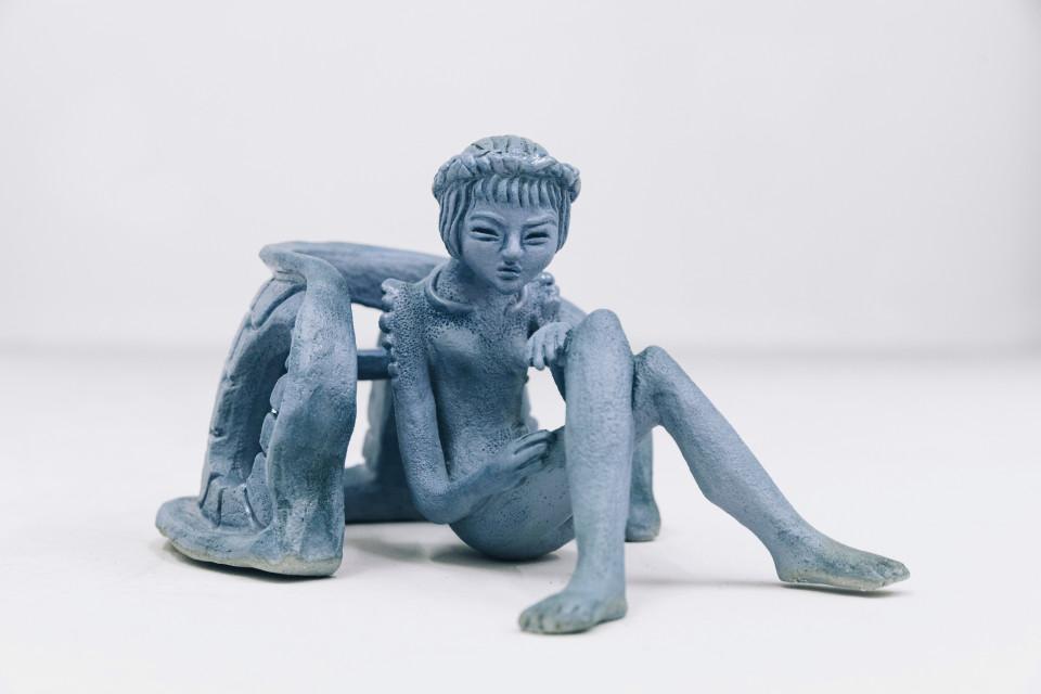 Siggi Sekira Nine Little Murmurs, 2019 Glazed stoneware 33 x 13 x 31 cm 13 x 5 1/8 x 12 1/4 in