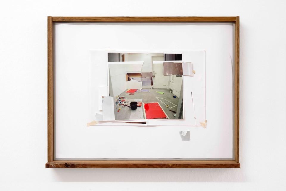 Diana Sirianni Caramel Escape VIII, 2012 Wood, inkjet prints, paper tape 54,5 x 70 cm