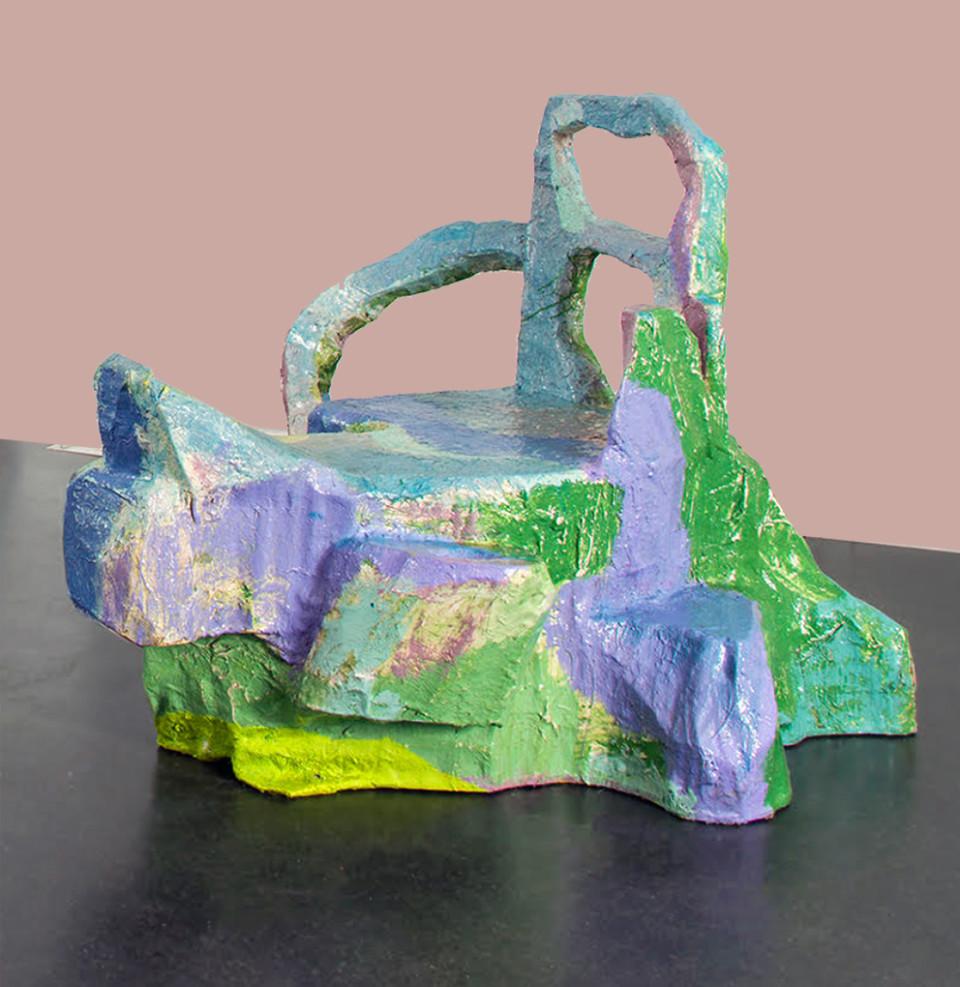 Jillian Mayer Slumpie 50 - The Resort Fibreglas, polyurethane plastic, wood and acryl 119 x 119 x 116 cm