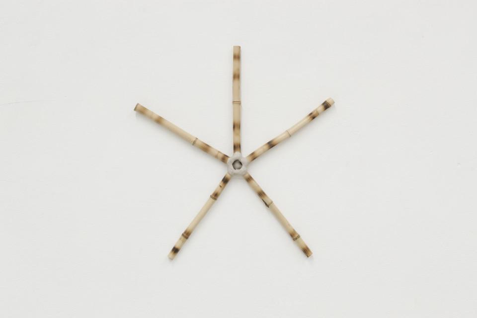 Tiago Tebet Social Pipe II, 2018 Bamboo 40 x 45 x 2 cm 15 3/4 x 17 3/4 x 3/4 in