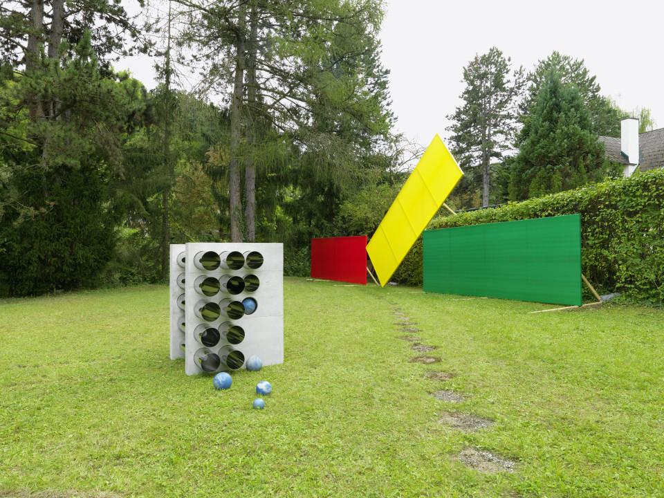 Sculpture Garden Installation view: Alicja Kwade & Grear Patterson, 2019