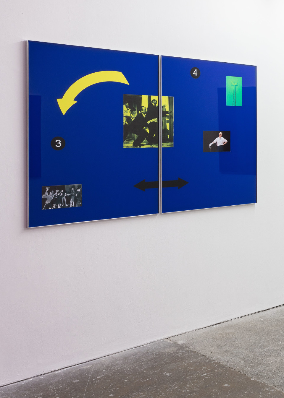 Simeon Barclay Winner takes all, 2016 Aluminium, blue acrylic, vinyl adhesive 119 x 180 x 2 cm 46 7/8 x 70 7/8 x 3/4 in