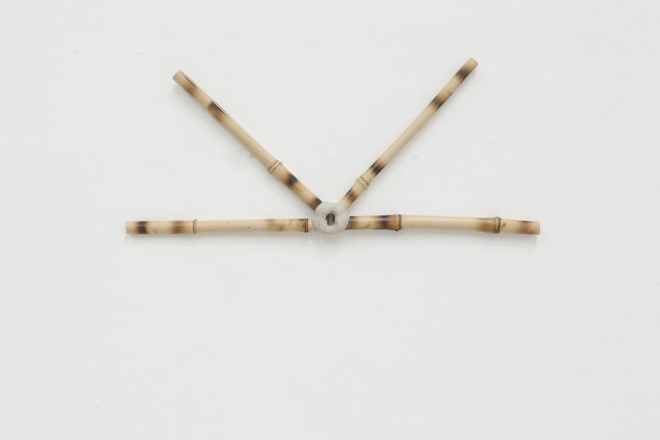 Tiago Tebet Social Pipe I, 2018 Bamboo 40 x 45 x 2 cm 15 3/4 x 17 3/4 x 3/4 in
