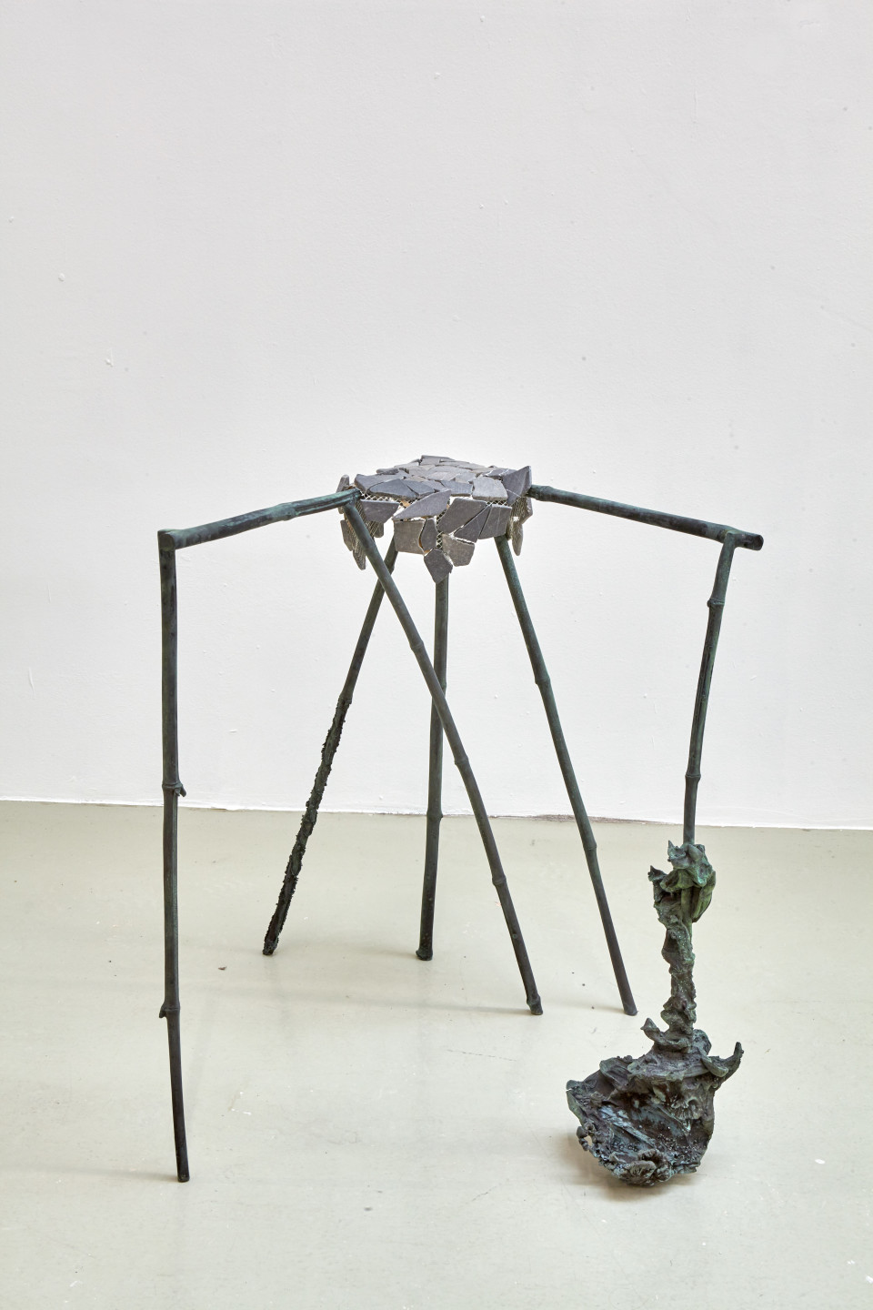Karl Karner Tisch, 2018 Bronze Height 78 cm