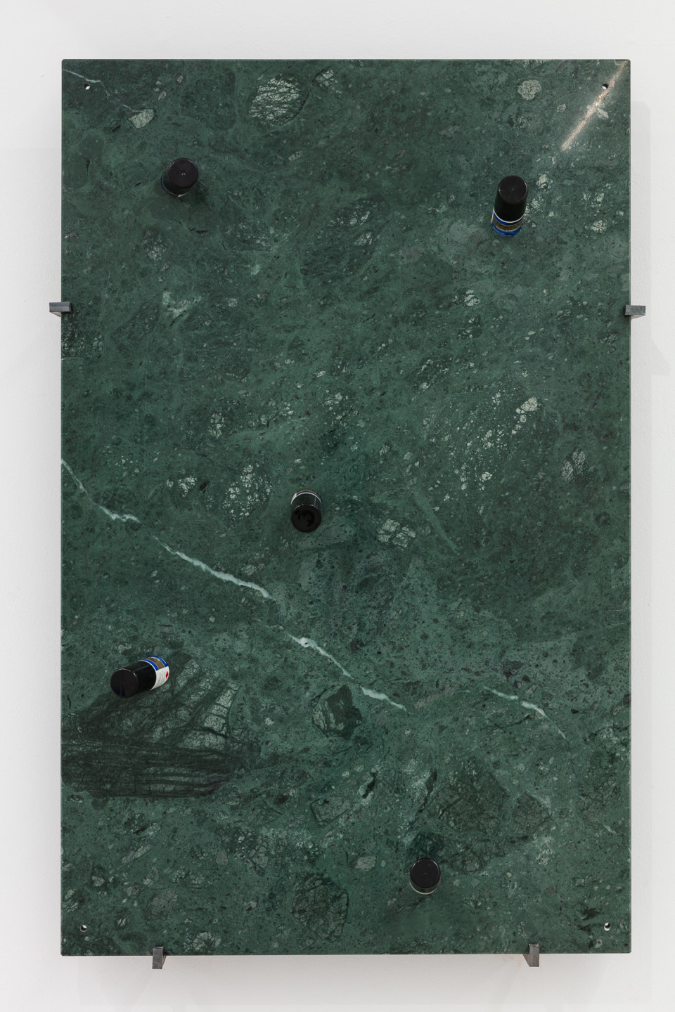 George Henry Longly kcals, 2012 green Serpentine marble, Regaine, metal fixings 700 x 1100 x 200 cm 275 5/8 x 433 1/8 x 78 3/4 in