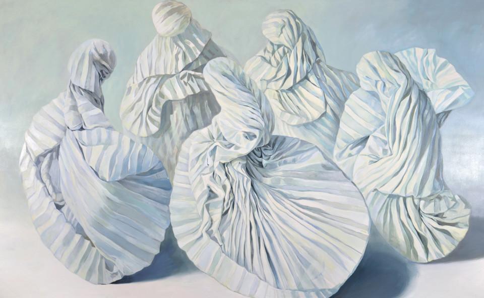 Alina Kunitsyna Agape, 2016-2017 oil on canvas 400 x 250 cm 157 1/2 x 98 3/8 in