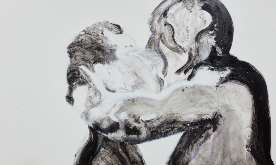 Nicole Wittenberg Black and White Kiss, 2016 Oil on canvas 200.7 x 335.3 cm 79 x 132 in