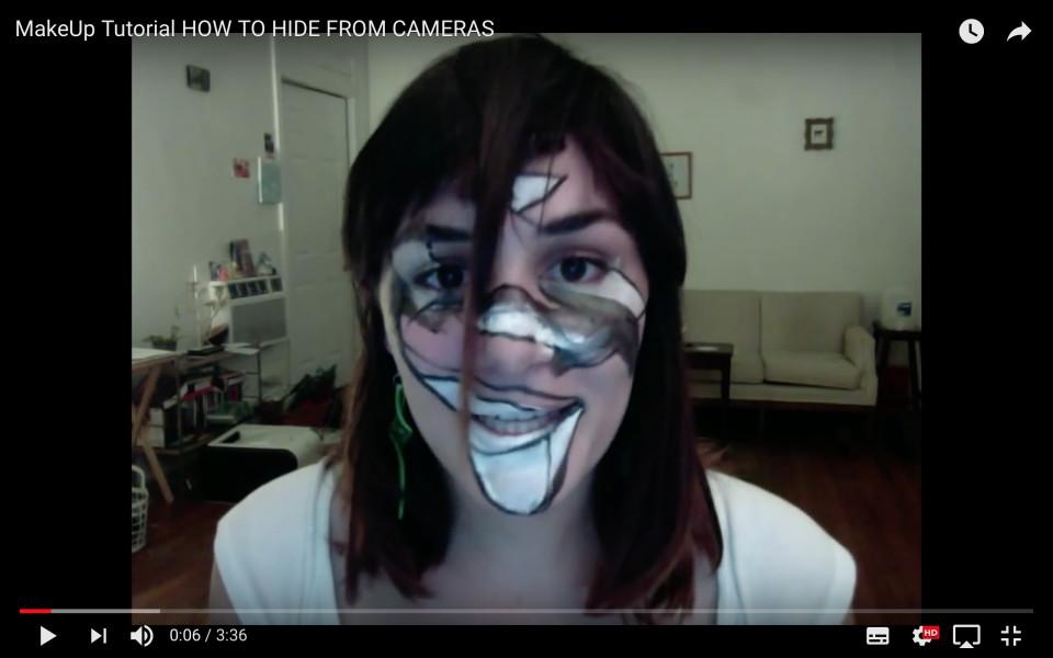 Jillian Mayer Makeup Tutorial - How To Hide From Cameras, 2013 Video, 3 min 37 sec
