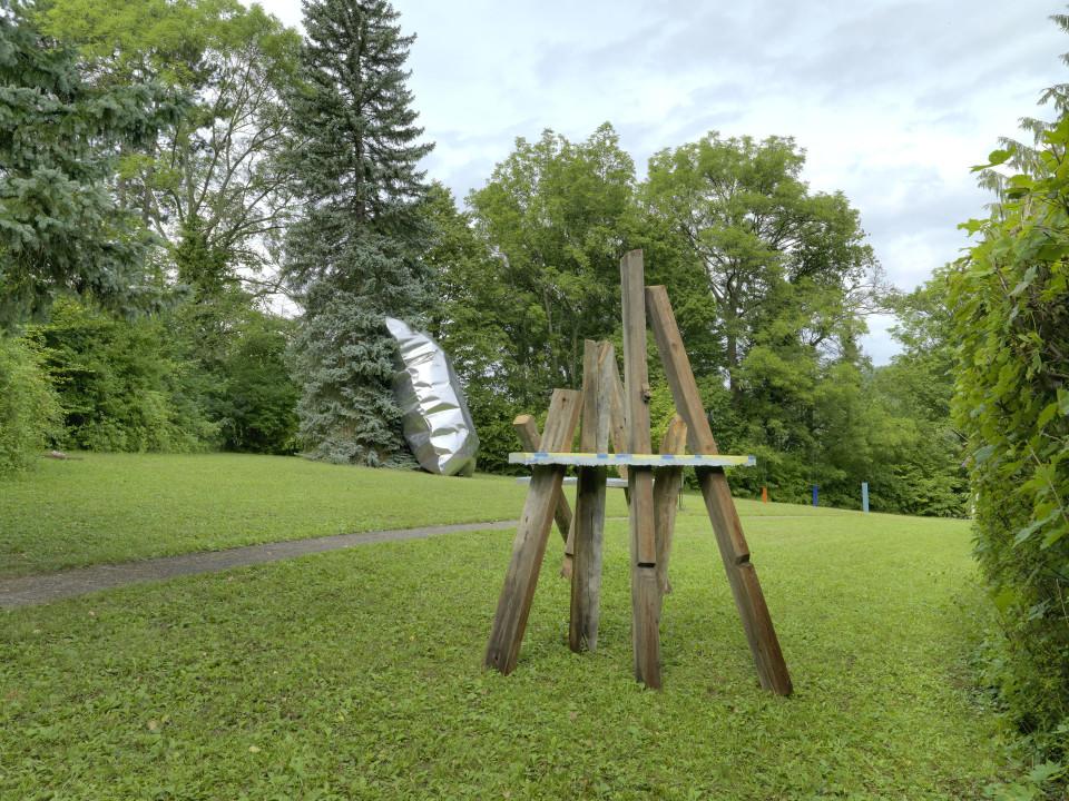 Sculpture Garden Installation view: Cäcilia Brown & Hans Kupelwieser, 2019