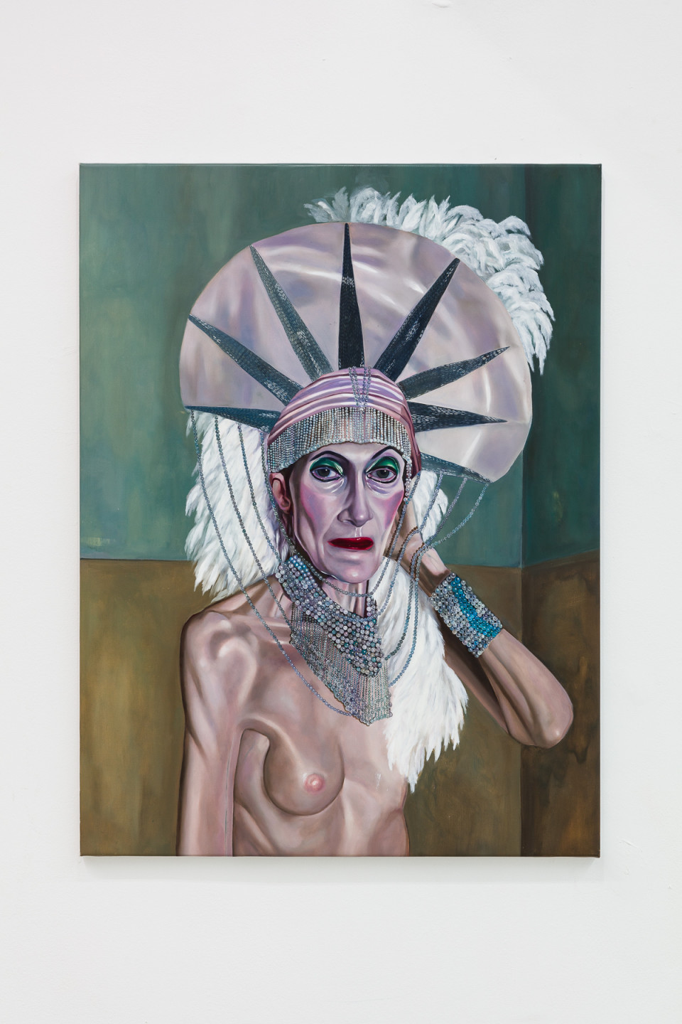 Tali Lennox Curtain Call for Linda Leven, Room 629, 2020 Oil on canvas 76.2 x 101.6 cm 30 x 40 in