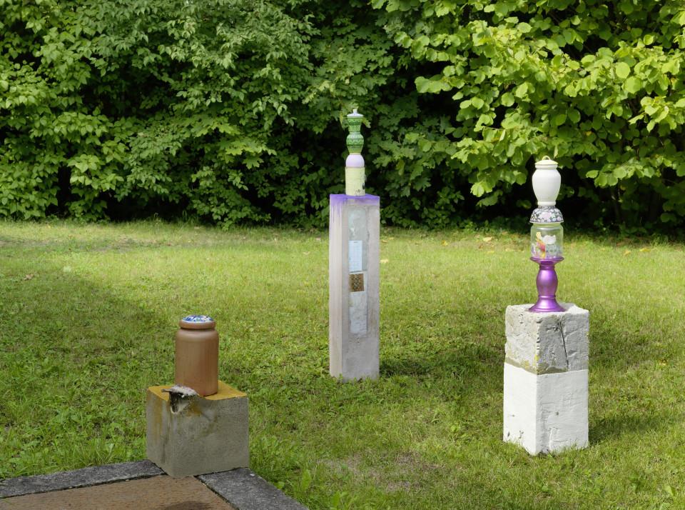 Sculpture Garden Installation view: Nana Mandl & Michael Vaccaro, 2019