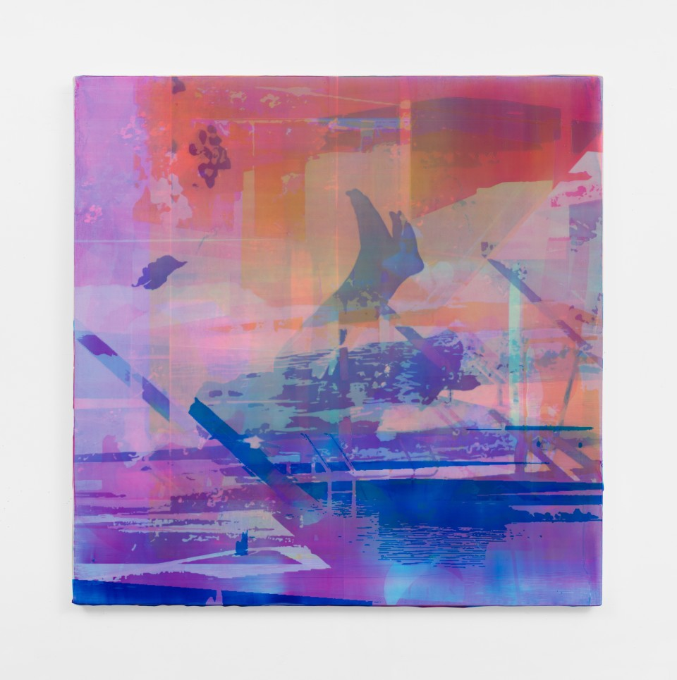 Image: Zoe Walsh  Night rips, 2020  signed and dated verso  acrylic on canvas-wrapped panel  24 x 24 inches (61 x 61 cm)