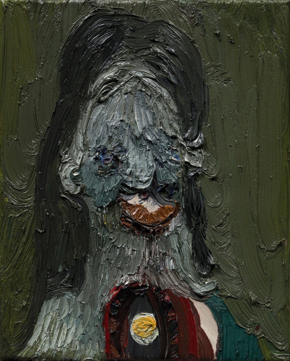 Image: Trude Viken  Lady 1, 2018  oil on canvas  19 3/4 x 15 3/4 inches (50.2 x 40 cm)