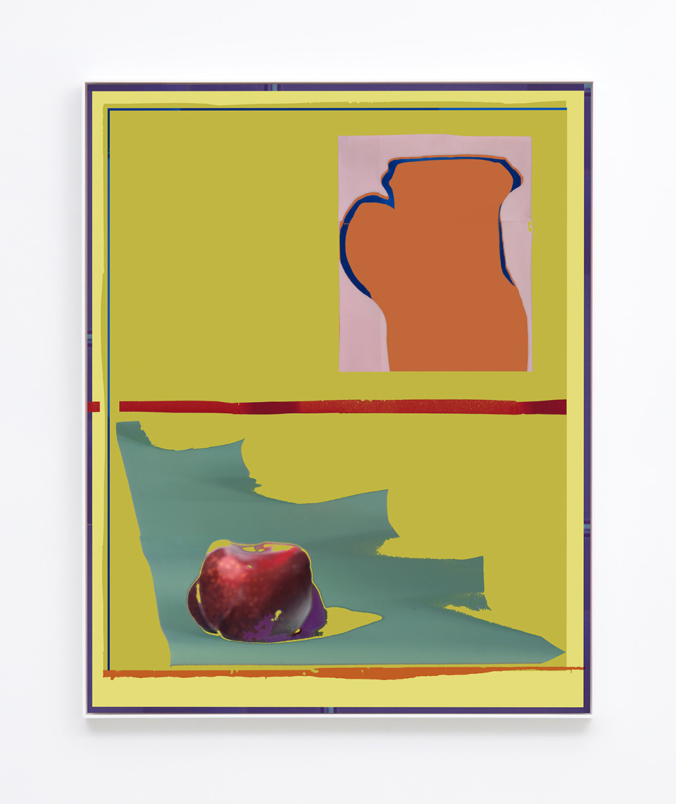 Image: Daniel Gordon  Plum and Pitcher, 2017  signed and numbered verso  archival pigment print on canvas  50-3/16 x 40-1/8 inches  unique