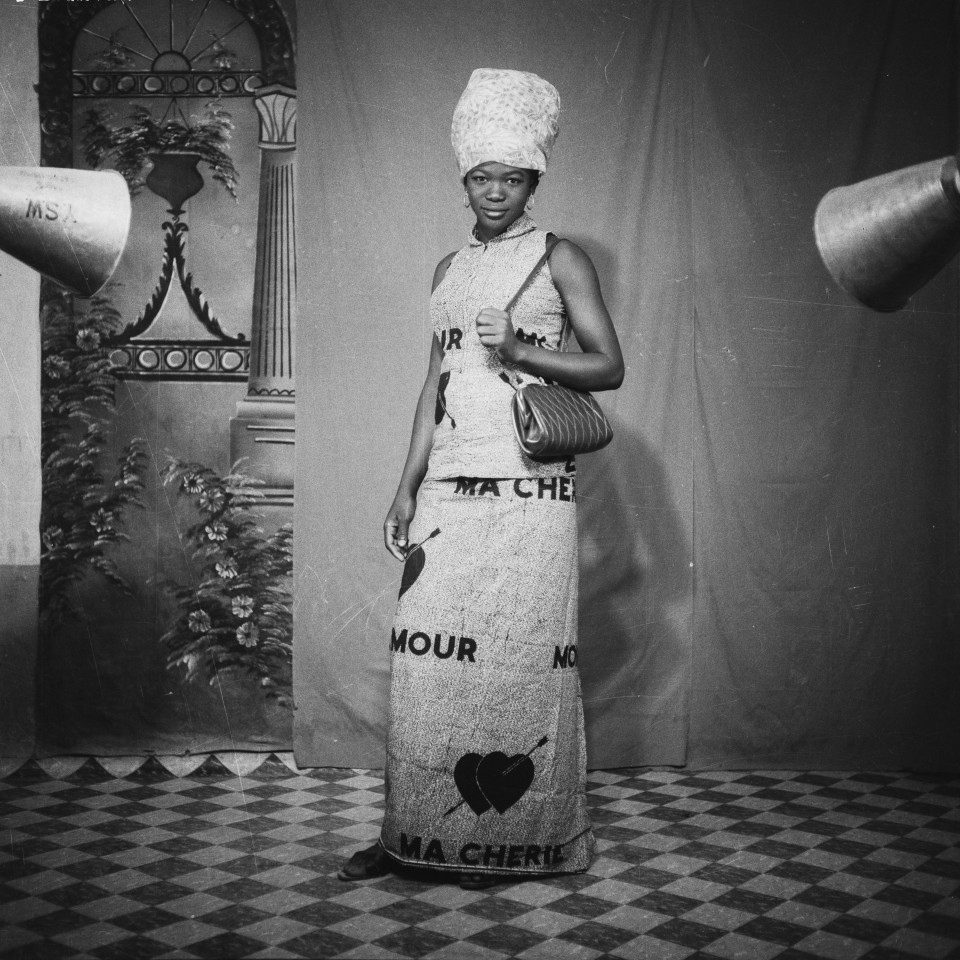 Image: Sanlé Sory  Amour, Ma Chérie, 1970  signed, dated, titled and numbered verso  archival pigment print  42 x 42 inches, edition of 9 plus 3 artist's proofs  gelatin silver print  24 x 20 inches, edition of 10 plus 3 artist's proofs 20 x 16 inches, edition of 15 plus 5 artist's proofs