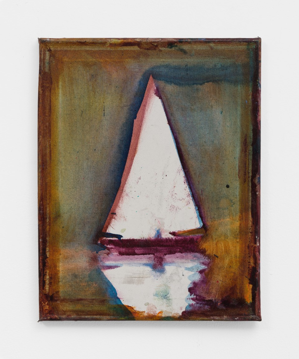 Image: Nathan Zeidman  Sailboat, 2015  signed and dated verso  acrylic on canvas  14 x 11 inches (35.6 x 27.9 cm)