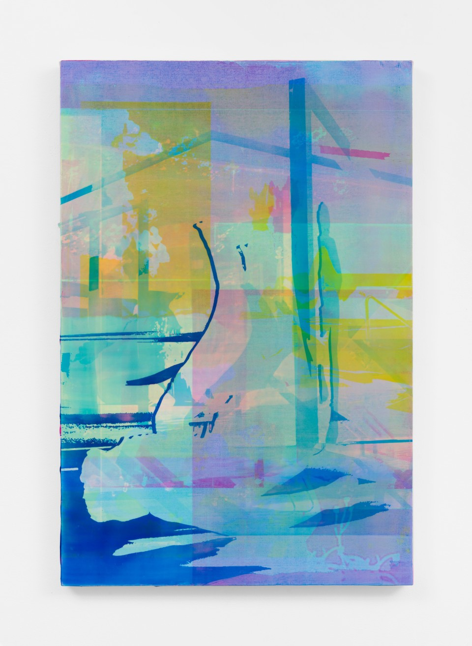 Image: Zoe Walsh  Someone waiting, 2020  signed and dated verso  acrylic on canvas-wrapped panel  30 x 20 inches (76.2 x 50.8 cm)