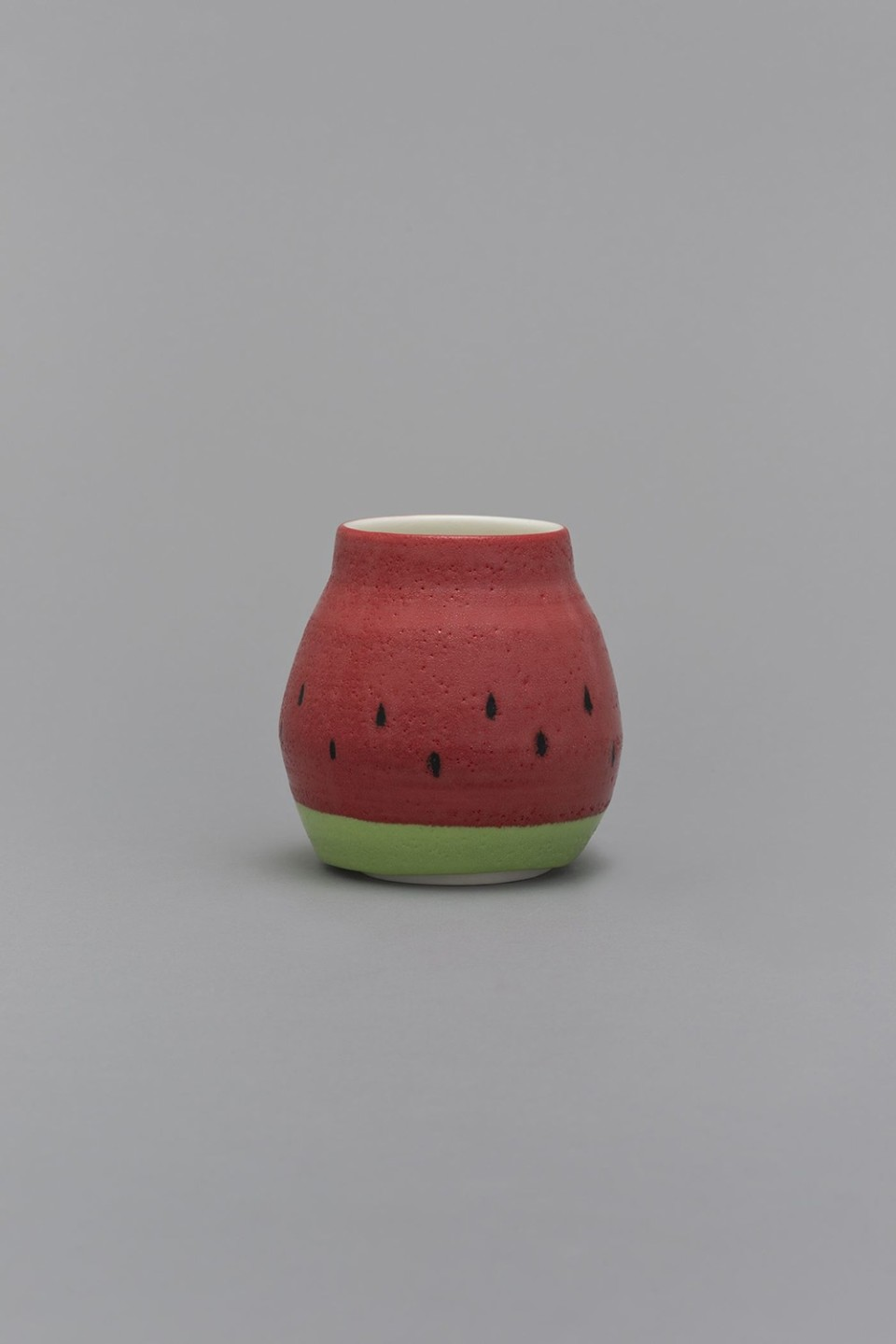 Image: Shio Kusaka  (watermelon 7), 2015  porcelain  5-1/4 x 5 x 5 inches