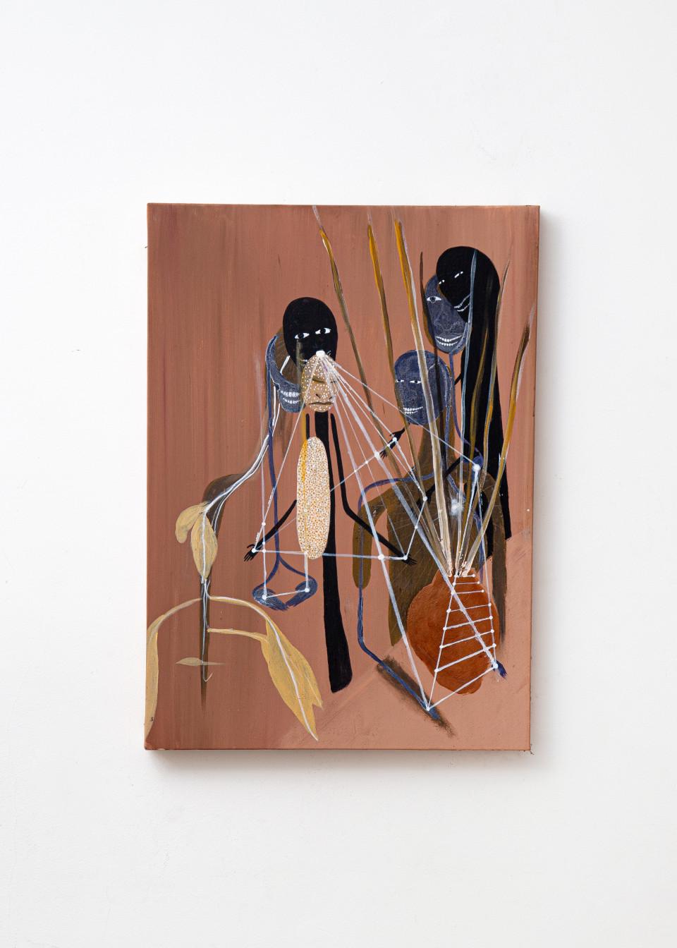 Image: Kelton Campos Fausto  A mão que inicia é uma só, 2021  mixed media on canvas  27 x 19 inches (70 x 50 cm)