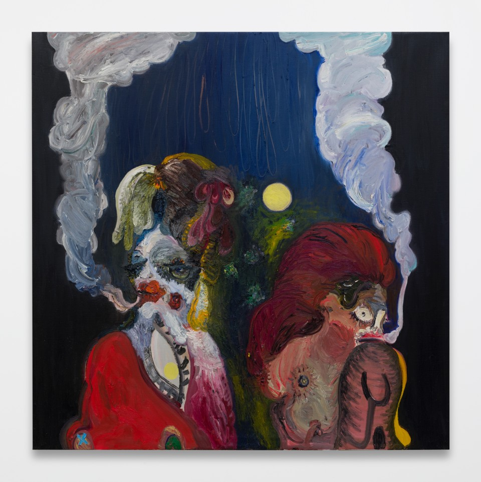 Image: Trude Viken  Smoke in the Air 5, 2019  oil on canvas  63 x 63 inches (160 x 160 cm)