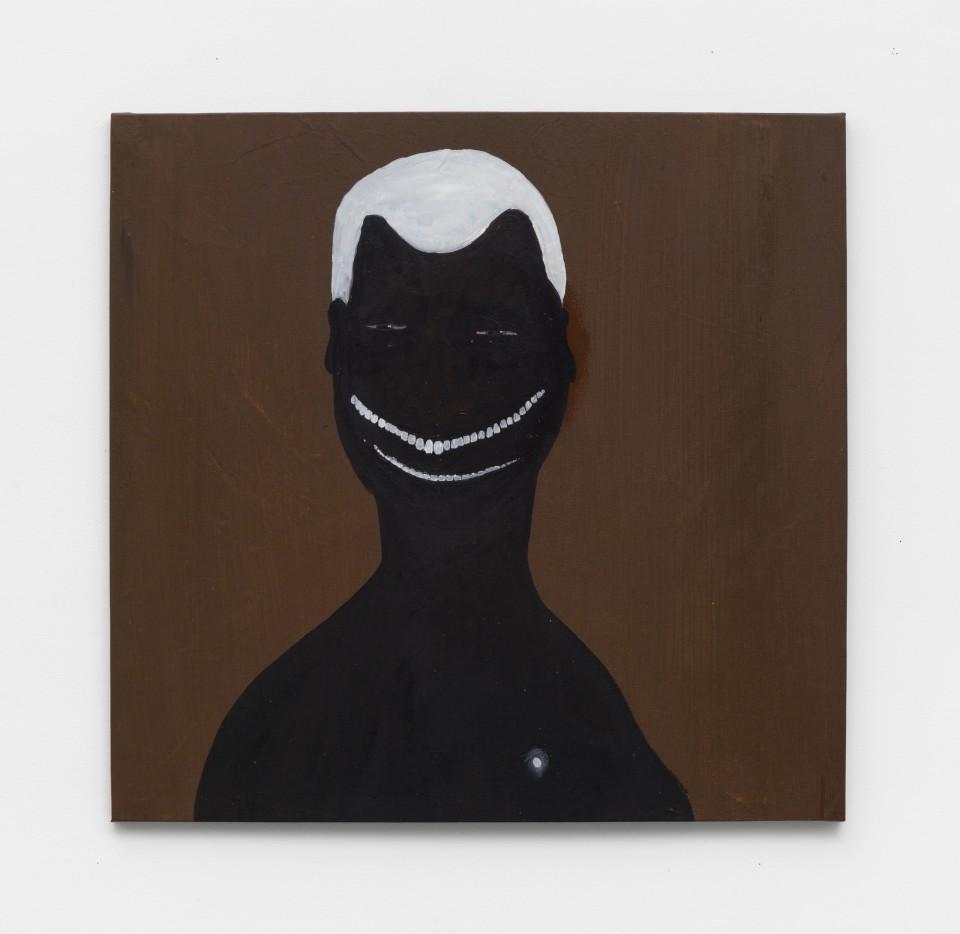 Image: Kelton Campos Fausto  Lemba, 2021  mixed media on canvas  30 x 31 1/2 inches (76.2 x 80 cm)