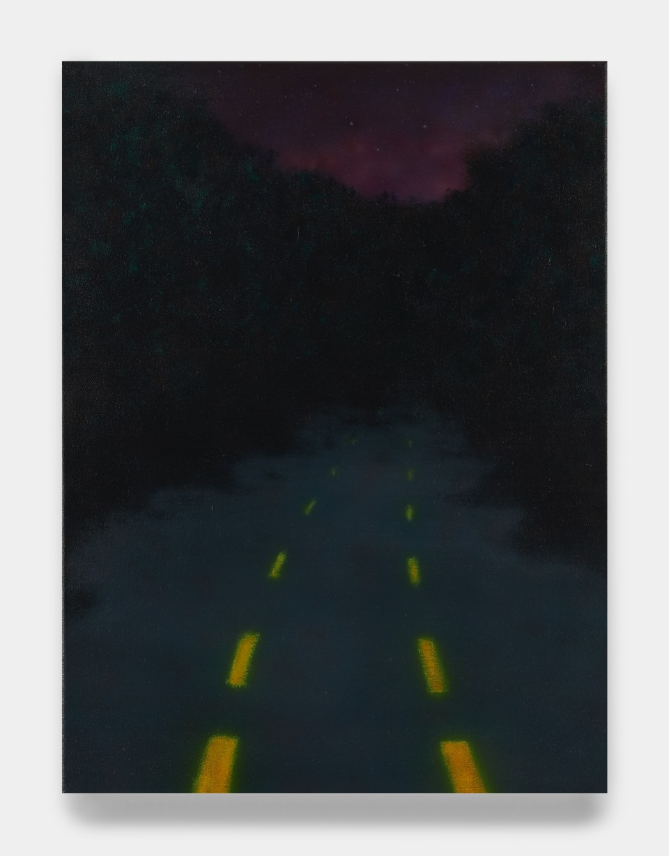 Image: Sung Hwa Kim  Nocturne: I keep riding. All that space between where we stand. I just keep riding and riding, 2021  signed, titled and dated verso  acrylic on canvas  24 x 18 inches (61 x 45.7 cm)