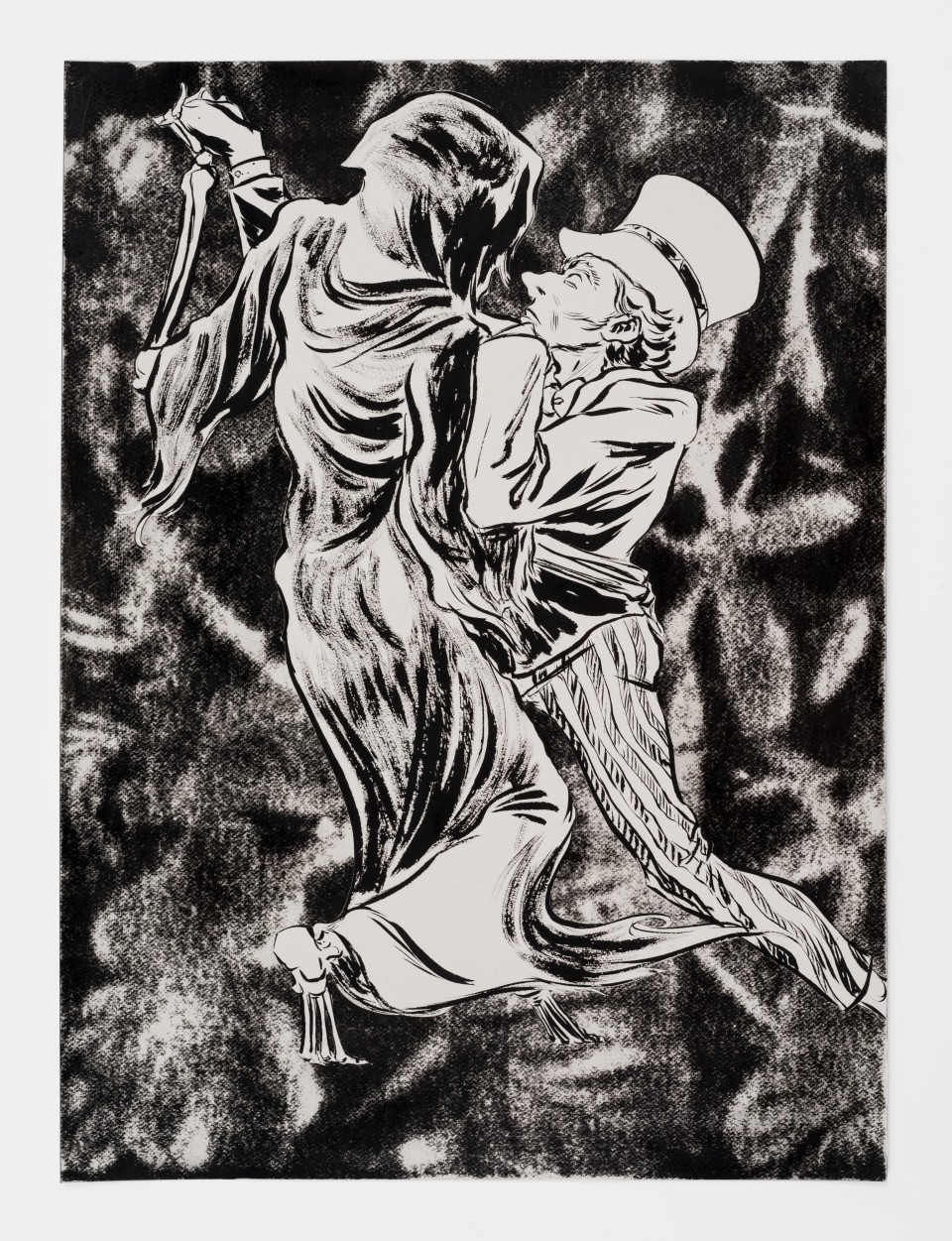Image: Mark Thomas Gibson  The Lovers (Part 2), 2020  ink on paper  30 x 22 inches (76.2 x 55.9 cm)
