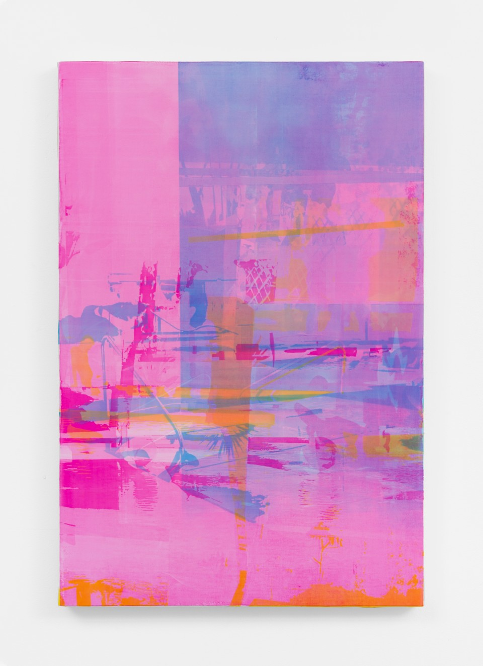 Image: Zoe Walsh  Where focus fails to mesh, 2020  signed and dated verso  acrylic on canvas-wrapped panel  30 x 20 inches (76.2 x 50.8 cm)