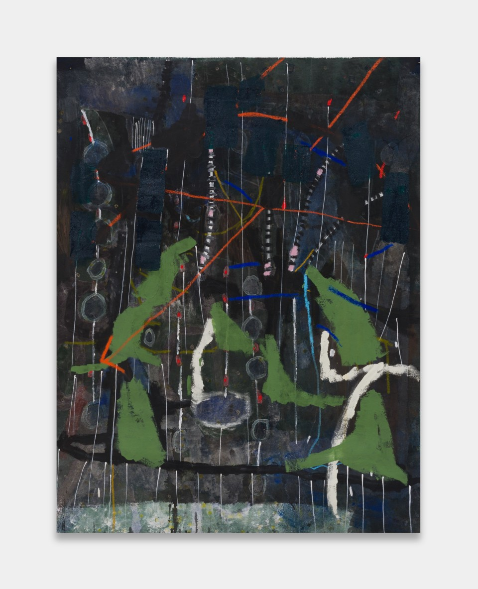 Image: Laís Amaral  WET HEAD (UNTITLED), 2021  signed and dated verso  acrylic and oil pastel on canvas  59 x 44 inches (150 x 113 cm)