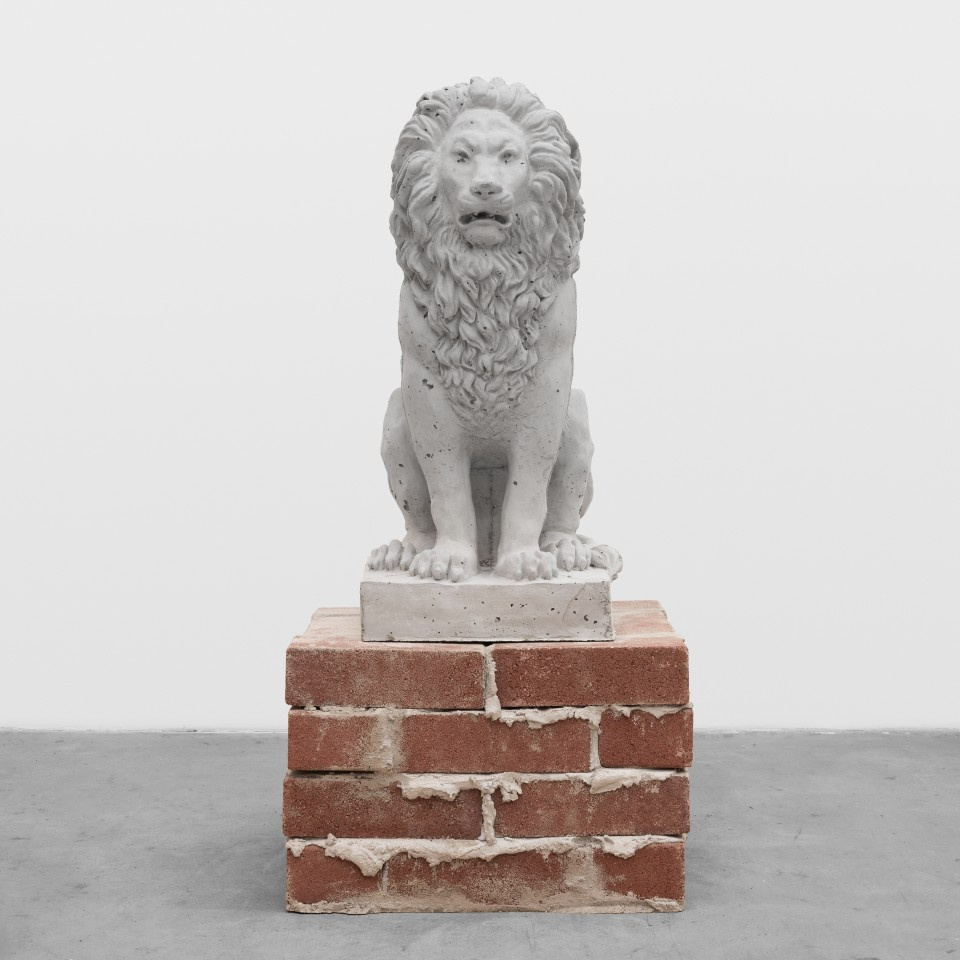 Image: Daniel Boccato  Sat in the numb dark. Hungry again., 2019  brick, concrete  16 x 32 x 16 inches (40.6 x 81.3 x 40.6 cm)
