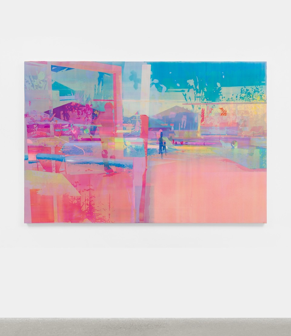 Image: Zoe Walsh  The shape of movement comes before the act, 2020  signed and dated verso  acrylic on canvas-wrapped panel  48 x 72 inches (121.9 x 182.9 cm)