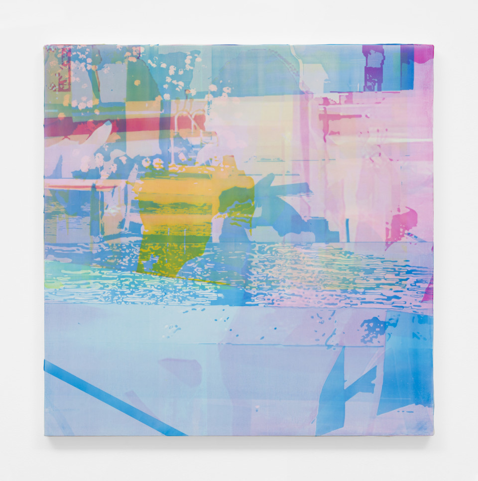 Image: Zoe Walsh  Mirrors Behind Eyes, 2020  acrylic on canvas-wrapped panel  24 x 24 inches (61 x 61 cm)