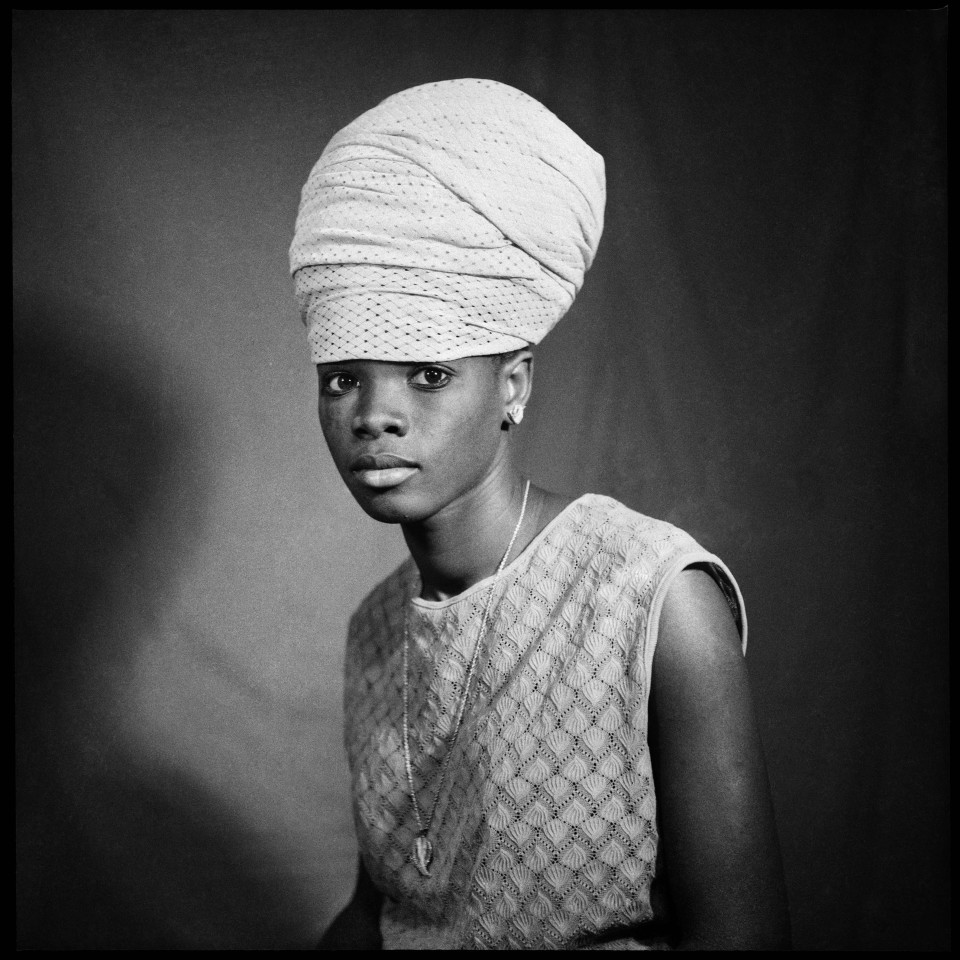 Image: Sanlé Sory  Belle de Jour, 1975  signed, dated, titled and numbered verso  gelatin silver print  image size: 14-1/2 x 14-1/2 inches (36 x 36 cm) paper size: 20 x 16 inches (50 x 40 cm)  edition of 15 plus 5 artist's proofs