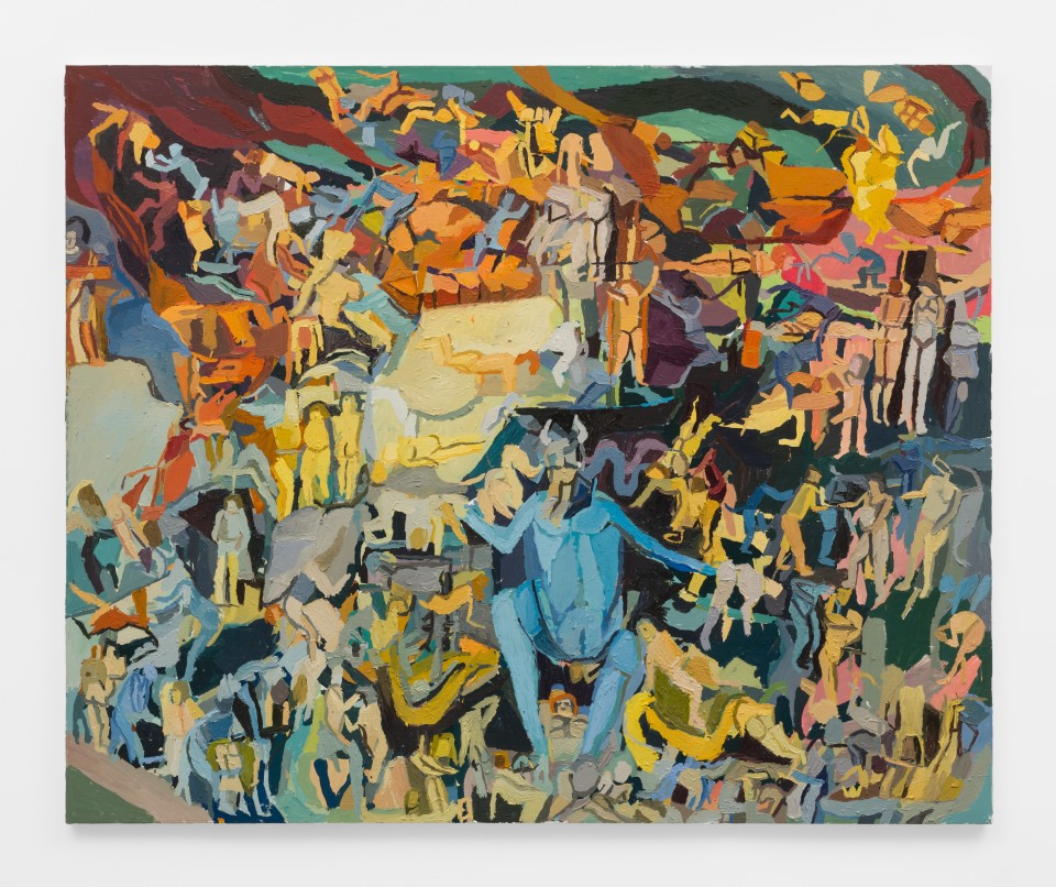 Image: Clintel Steed  The Last Judgement, 2019  signed, titled and dated verso  oil on canvas  64 x 78 inches (162.6 x 198.1 cm)