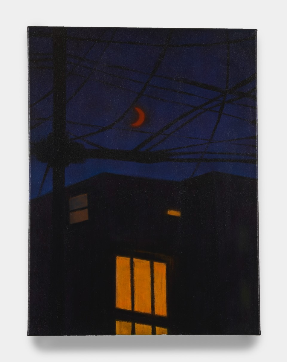 Image: Sung Hwa Kim  Nocturne: And we follow the night looking for the light, 2021  signed, titled and dated verso  acrylic on canvas  24 x 18 inches (61 x 45.7 cm)
