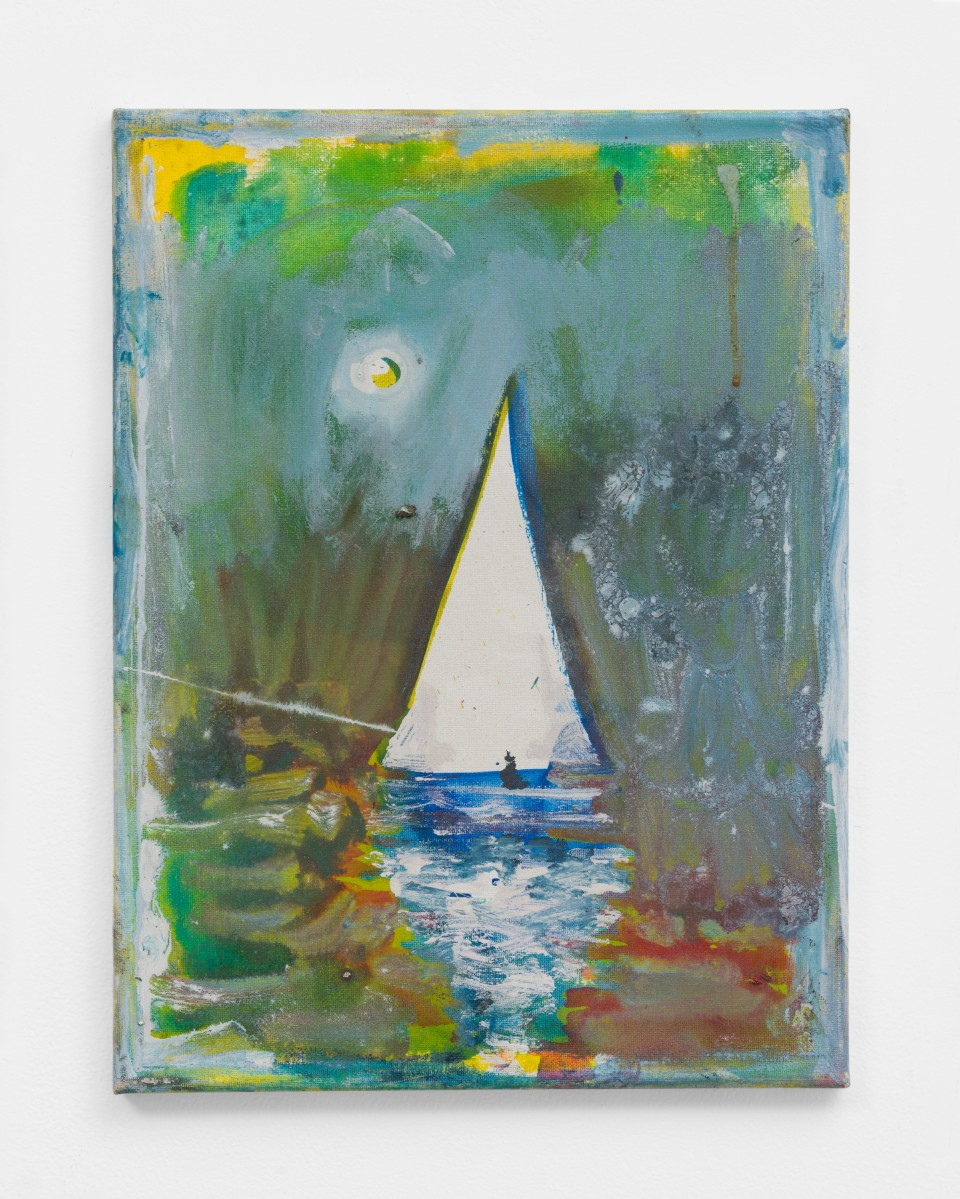Image: Nathan Zeidman  Sailboat, 2015  signed and dated verso  acrylic on canvas  16 x 12 inches (40.6 x 30.5 cm)