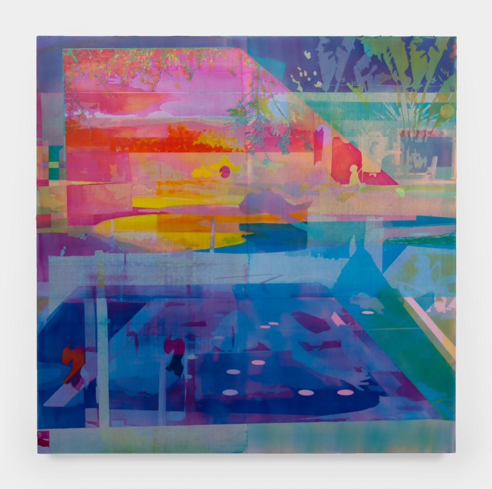 Image: Zoe Walsh  Prism and Lens, 2020  signed and dated verso  acrylic on canvas-wrapped panel  48 x 48 inches (121.9 x 121.9 cm)