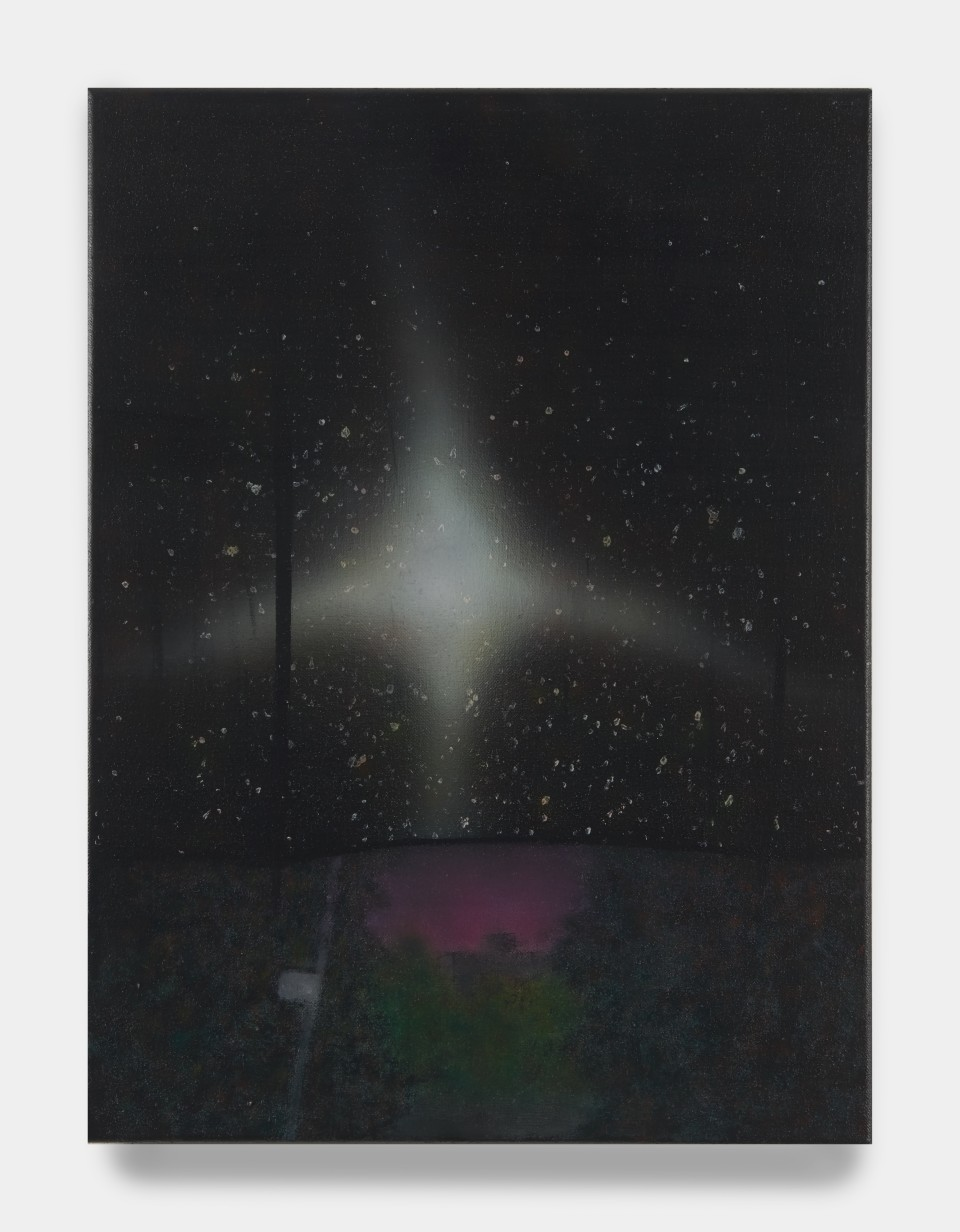 Image: Sung Hwa Kim  Nocturne: Mother, let me say a beautiful word for every star I count, 2020  signed, titled and dated verso  acrylic on canvas  24 x 18 inches (61 x 45.7 cm)