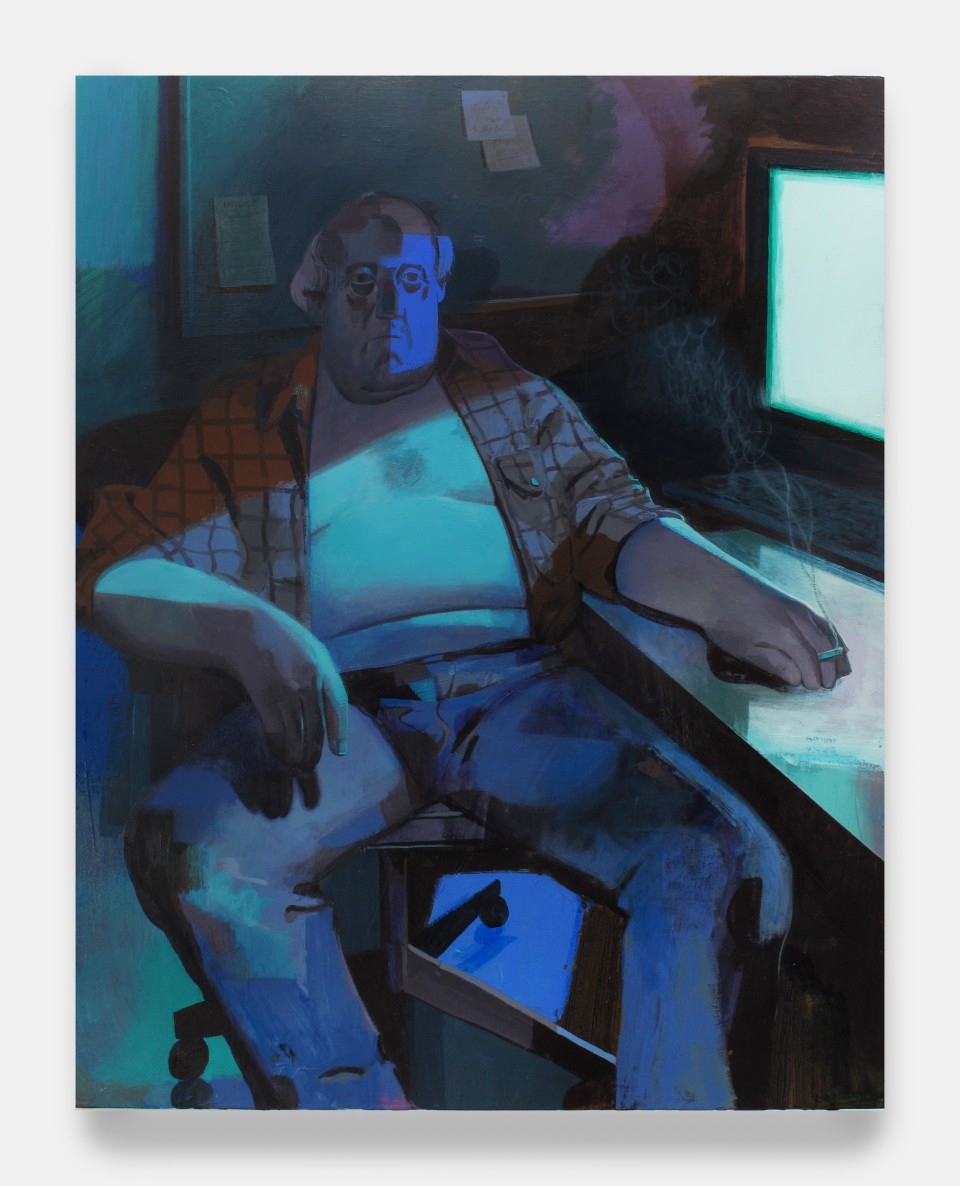 Image: Matt Bollinger  Insomnia, 2020  Flashe and acrylic on canvas  48 x 38 inches (121.9 x 96.5 cm)
